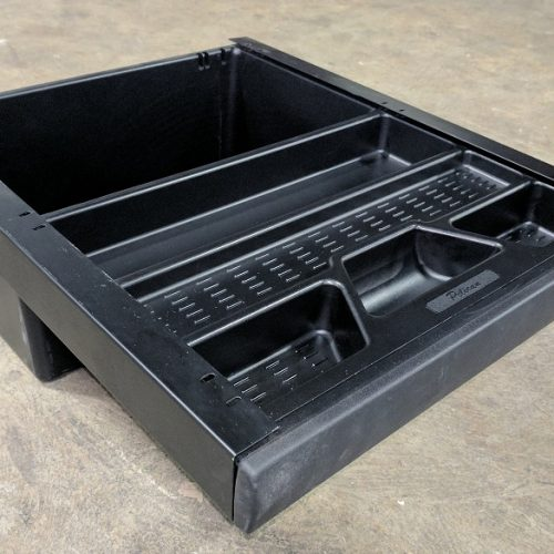 Pelican Pencil Drawer/Tub, w/Lock, 19Wx10Hx23D, Black