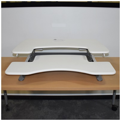 VARIDESK DESK-TOP HEIGHT-ADJUSTABLE SIT-STAND, WHITE, 36Wx30D