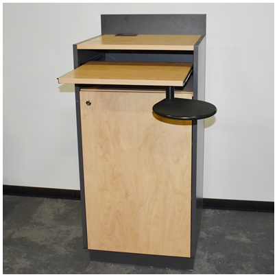MAPLE AND GRAY LAMINATE LECTERN