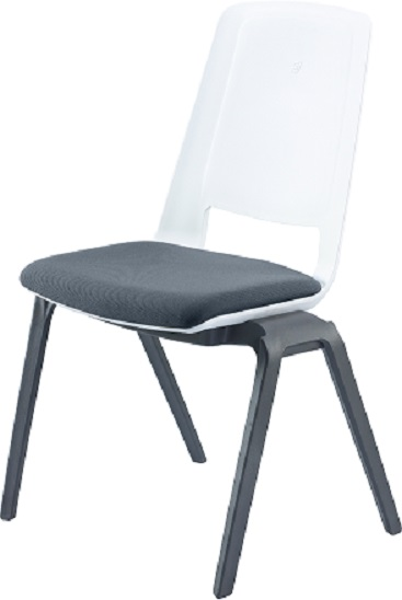 ERGO CIRCUIT STACKER CHAIR W/FABRIC SEAT (NEW)