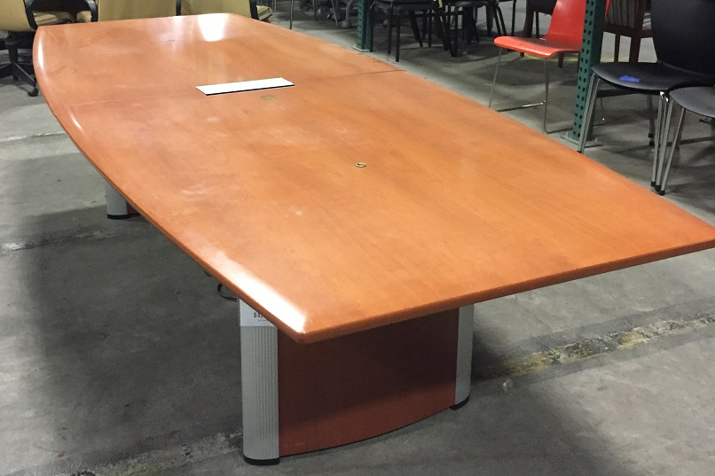 NIENKAMPER 2-PIECE BOAT SHAPED CONFERENCE TABLE