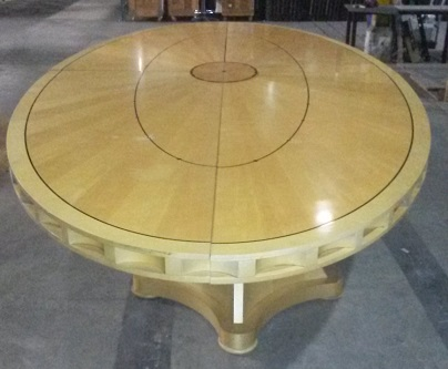 5-PIECE OVAL WOOD CONFERENCE TABLE