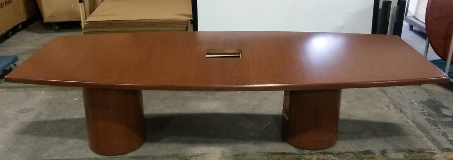 BOAT SHAPED 2-PIECE CONFERENCE TABLE