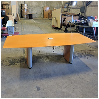 KIENKAMPER BOAT SHAPED CONFERENCE TABLE