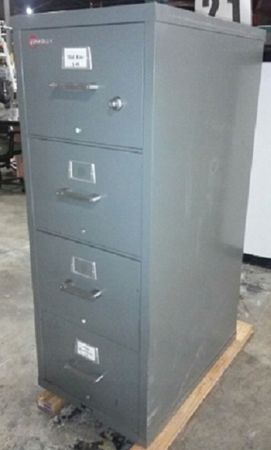 MOSLER 4-DRAWER FIRE FILE