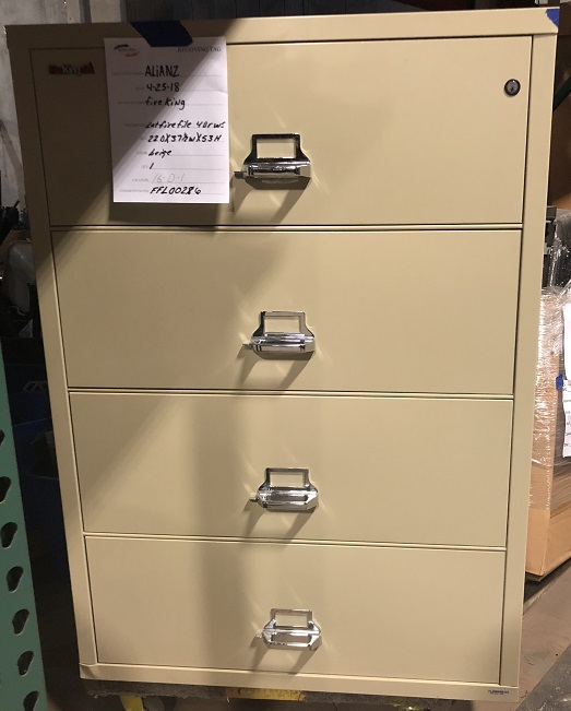 FIREKING 4-DRAWER LATERAL FIRE FILE