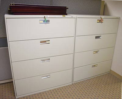 HON 4-DRAWER LATERAL FILE