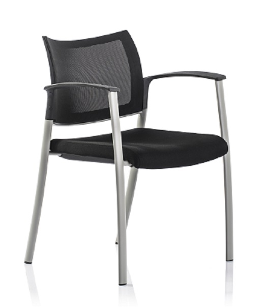 MOBIE SIDE CHAIR, BLACK (NEW)