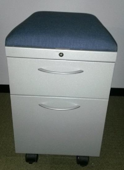 ALLSTEEL BOX FILE MOBILE PEDESTAL W/CUSHION TOP