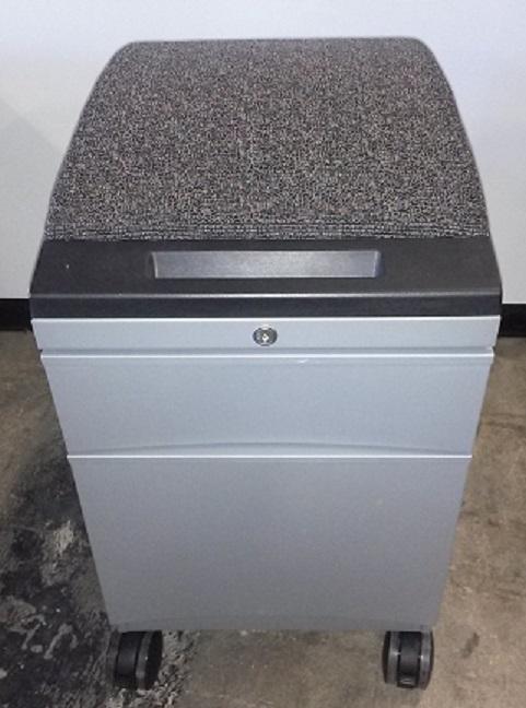 TEKNION BOX FILE MOBILE PEDESTAL WITH CUSHION TOP