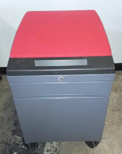 TEKNION BOX FILE PEDESTAL WITH CUSHION TOP