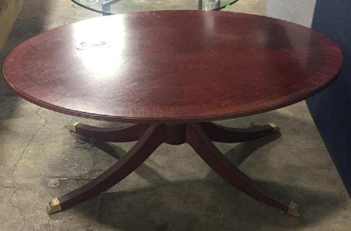 BERNHARDT OVAL COFFEE TABLE