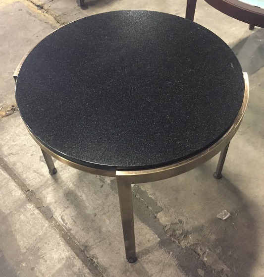 GRANITE ROUND SIDE TABLE