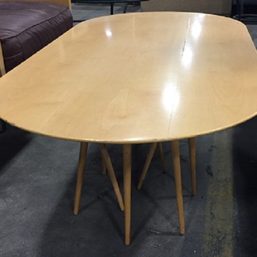 KNOLL TOOTHPICK CACTUS OVAL COFFEE TABLE