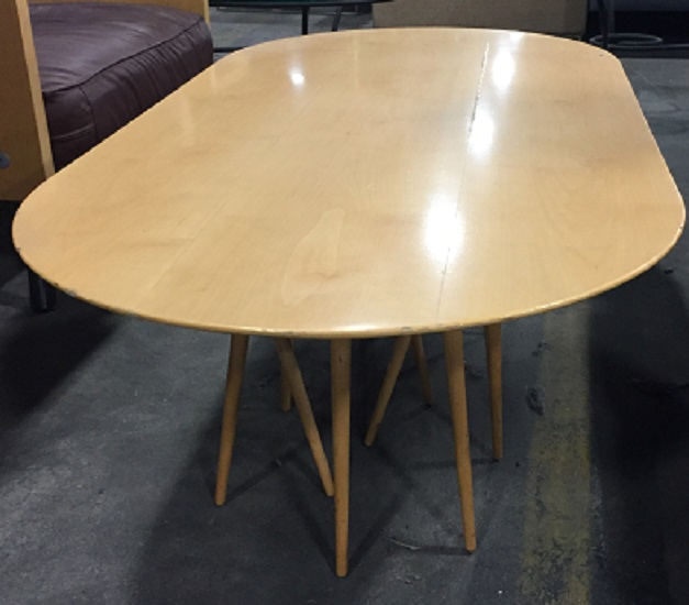 KNOLL TOOTHPICK CACTUS OVAL COFFEE TABLE