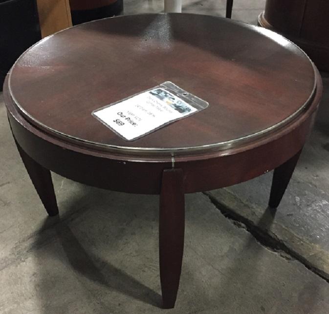 BERNHARDT ROUND SIDE TABLE