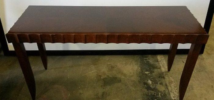 HAWORTH RECTANGULAR TABLE W/SCALLOPED EDGING