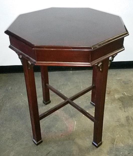 BERNHARDT OCTAGON SIDE TABLE