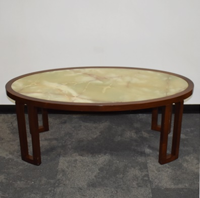 OVAL ONYX COFFEE TABLE