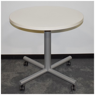MOBILE ROUND FLIP-TOP TABLE