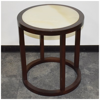 ONYX ROUND OCCASIONAL TABLE