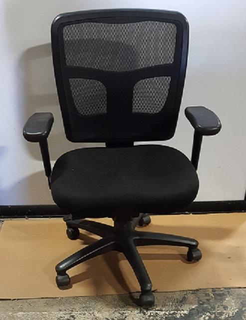 OSP Task Chair, Black, w/ padded seat, Black Mesh Back, Adj Height & Back, Black Base and Frame ...