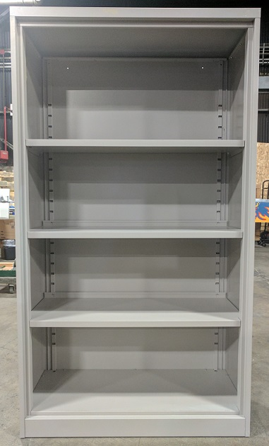 Steelcase Metal Bookcase, 42Wx15Dx65H, Light Grey