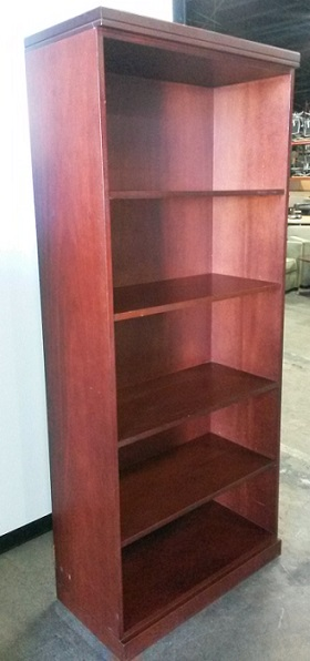 OFS Bookcase, 4 Shelf, 30Wx14Dx71H, Wood, Cherry