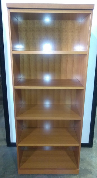 Geiger Bookcase , 4 Shelf, 30Wx15Dx74H, Cherry, Wood