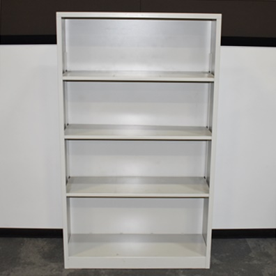 HON METAL 4-SHELF BOOKCASE, LIGHT GRAY, 35Wx13Dx59H