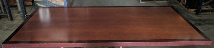 """CONFERENCE TABLE, 7'Wx42""""D, CHERRY WOOD/SILVER"""