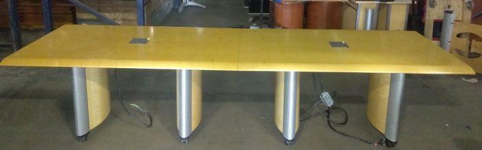 KIENKAMPER CONFERENCE TABLE, 120Wx36D, MAPLE VENEER