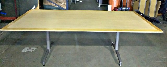 "CONFERENCE TABLE, 90""Wx42""D, MAPLE LAMINATE, WOOD EDGE (requires 2-CFT0025-B bases)"