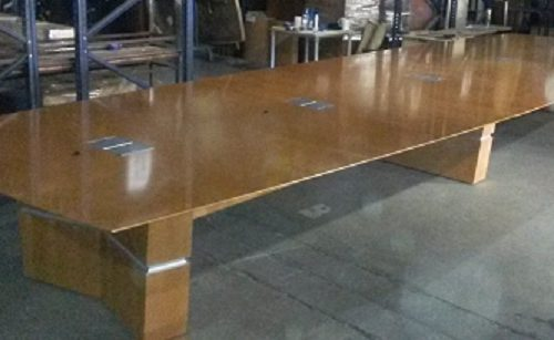 24-FOOT CHERRY CONFERENCE TABLE