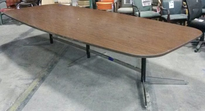 """Conference Table, 12'w x 5'd x 28""""h, Walnut"""