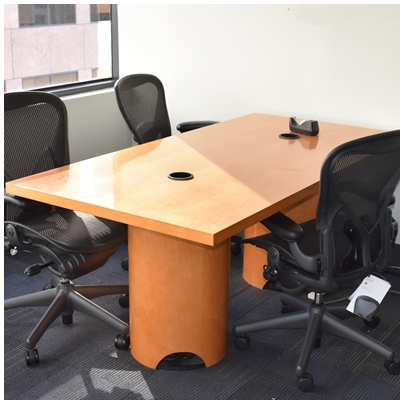 HONEY MAPLE CONFERENCE TABLE