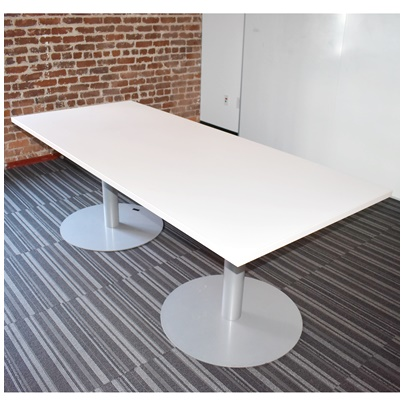 WHITE LAMINATE CONFERENCE TABLE