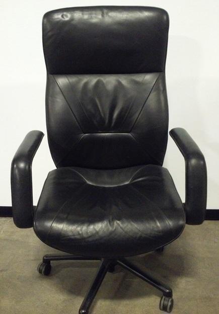Keilhaurer, Respond, high back exec chair, blk base, blk leather