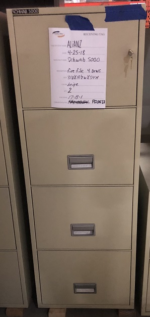 SCHWAB 4-DRAWER VERTICAL FIRE FILE