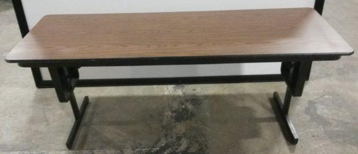 MITCHELL ADJUSTABLE HEIGHT FOLDING TABLE