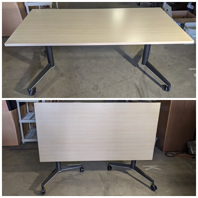 STEELCASE MOBILE FLIP-TOP TRAINING TABLE
