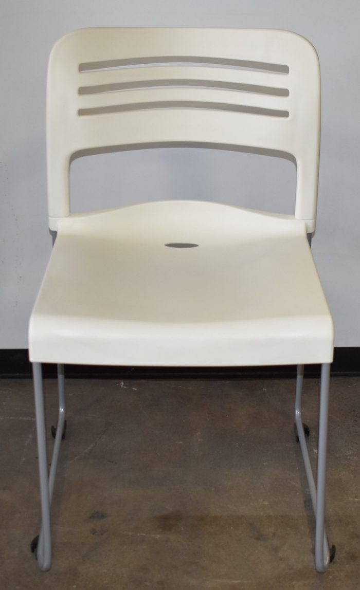 LAYOVER SLED BASE STACKER, STACKABLE, WHITE (NEW)