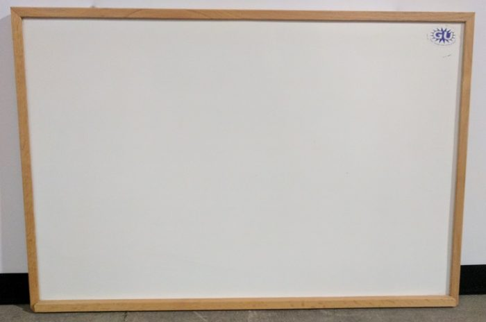 WHITEBOARD W/MAPLE FRAME