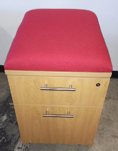 BOX FILE MOBILE PEDESTAL WITH CUSHION TOP