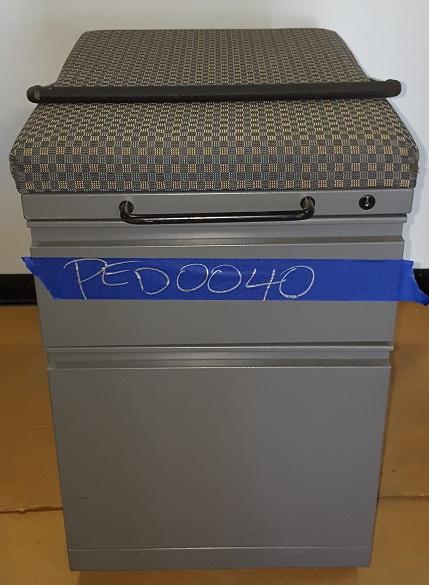 BOX FILE MOBILE PEDESTAL W/ CUSHION TOP