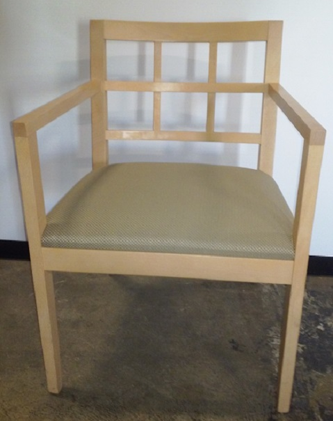 OFS WOOD SIDE ARM CHAIR