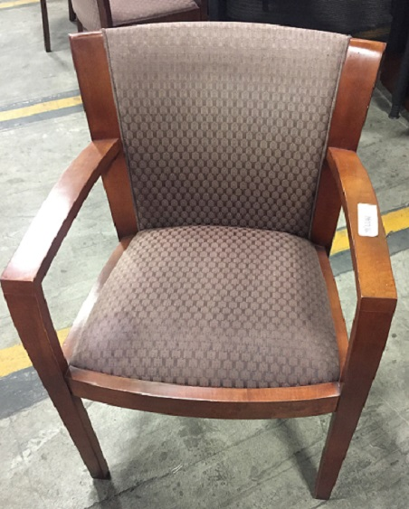 WOOD SIDE ARM CHAIR