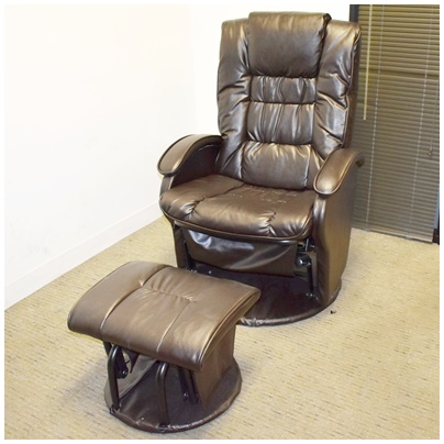 LOUNGE CHAIR/ROCKER WITH OTTOMAN