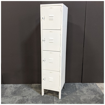 4 TIER STEEL LOCKER