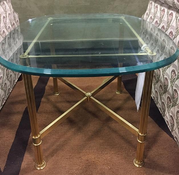 RACETRACK SIDE TABLE